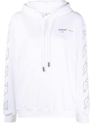 Bluza z kapturem z kapturem długo Off-white