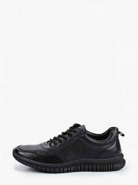 Кожаные черные кроссовки Berten