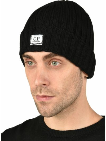 Шерстяная шапка - черная C.p. Company