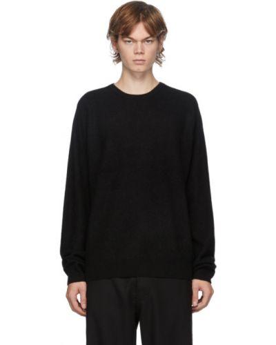 Czarny z kaszmiru sweter z długimi rękawami Frenckenberger