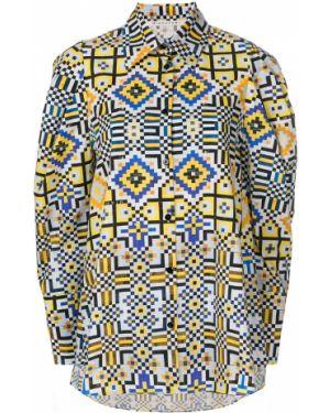 Длинная рубашка - голубая Miahatami