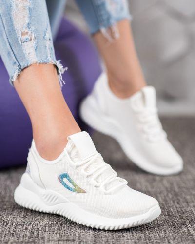 Białe sneakersy z cekinami Mckeylor
