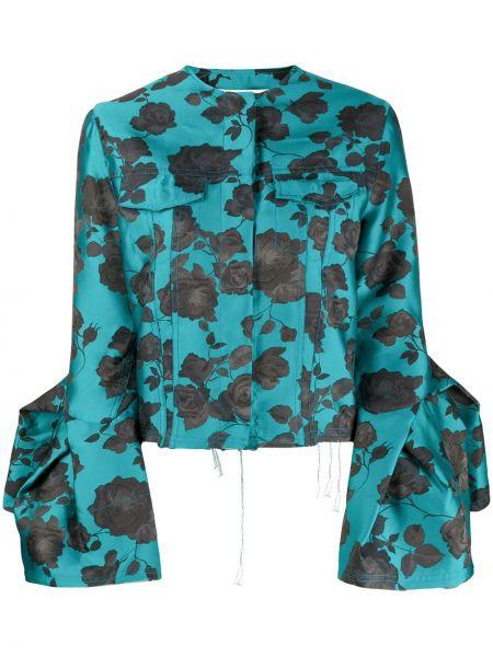 Синий пиджак с вырезом круглый Marques'almeida