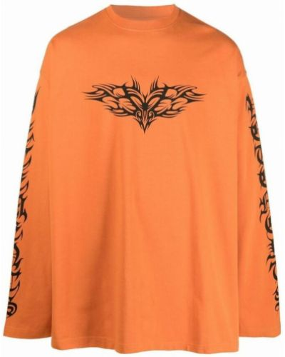 Pomarańczowa t-shirt Vetements
