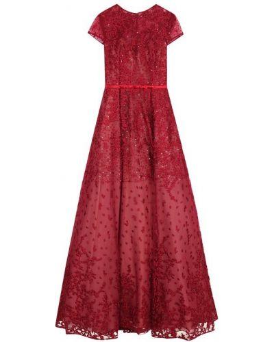 Платье макси с поясом приталенное Basix Black Label