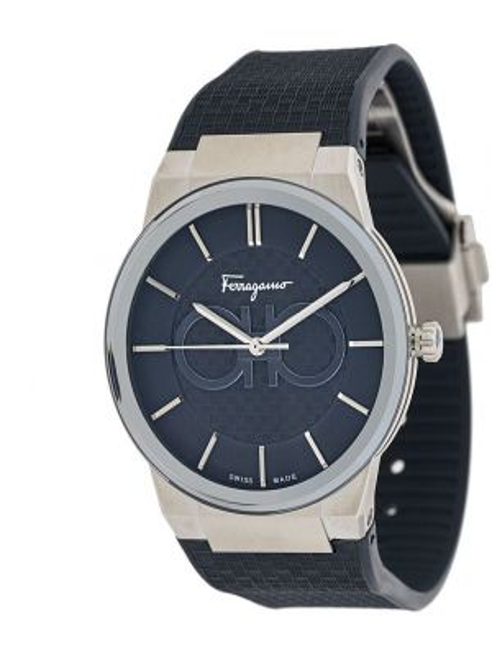 С ремешком серебряные кварцевые часы круглые металлические Salvatore Ferragamo Watches