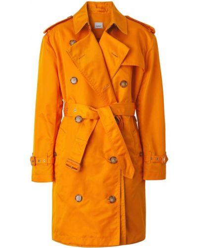 Кожаный тренчкот - оранжевый Burberry