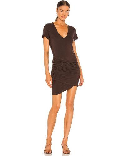 Платье с запахом - коричневое Monrow