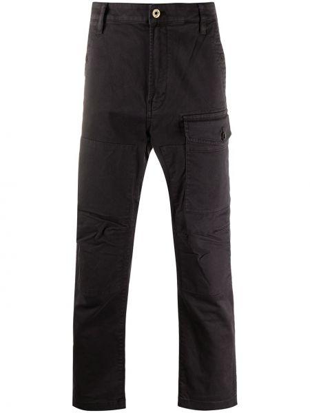 Хлопковые черные брюки карго стрейч G-star Raw