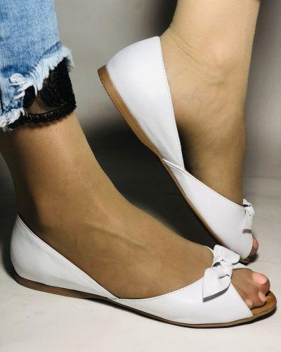 Кожаные балетки - белые Mario Muzi