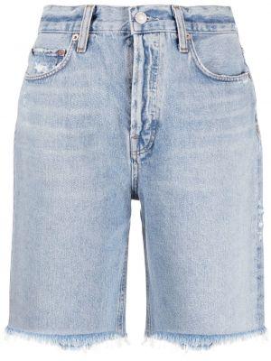 Klasyczne niebieskie jeansy z wysokim stanem Agolde