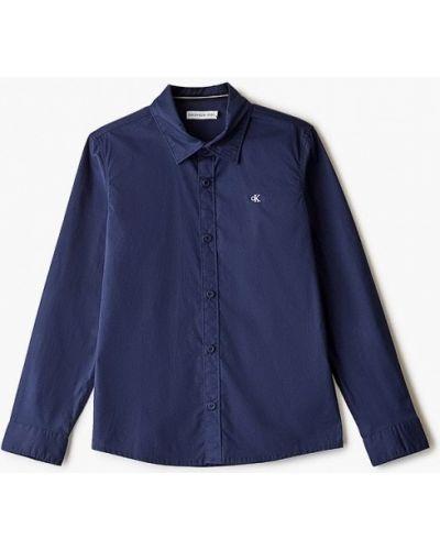 Синяя джинсовая рубашка Calvin Klein Jeans