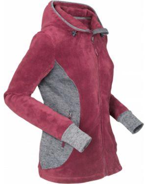 Куртка с капюшоном плюшевая на молнии Bonprix