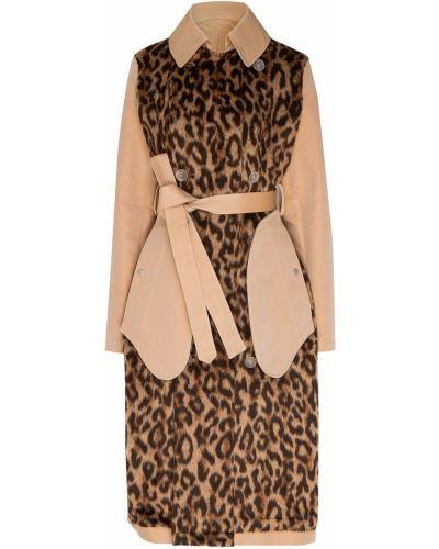 Пальто бежевое леопардовый Unravel Project