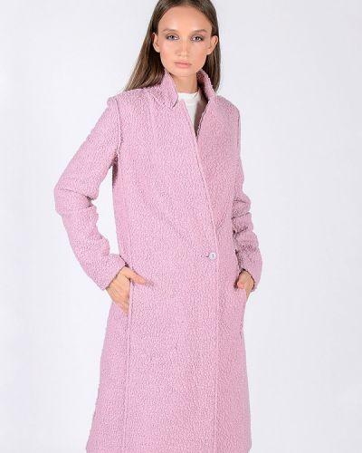 Розовое пальто с капюшоном Kriza