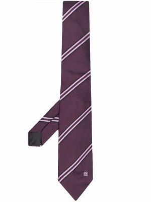 Krawat z printem - fioletowy Givenchy