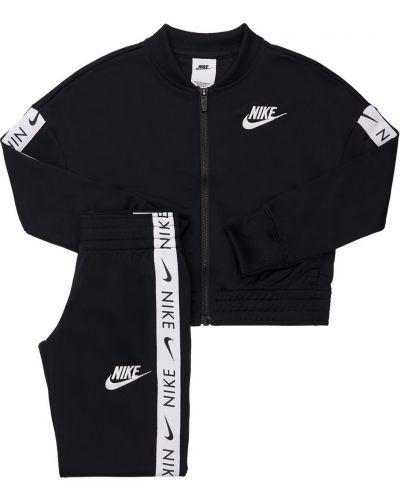 Черный спортивный костюм с вышивкой Nike