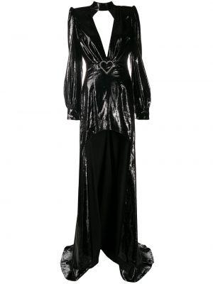 Открытое черное платье макси с открытой спиной Philipp Plein