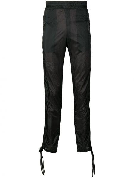 Спортивные нейлоновые черные спортивные брюки с поясом Ktz