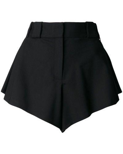 Однобортные черные шорты Paco Rabanne