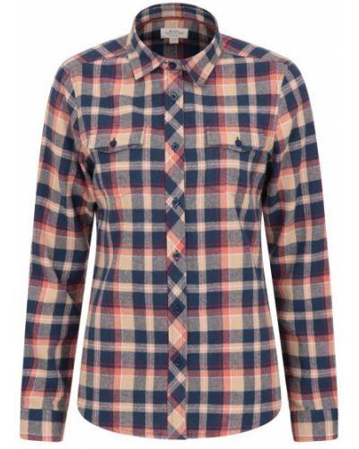 Flanelowa koszula - pomarańczowa Mountain Warehouse