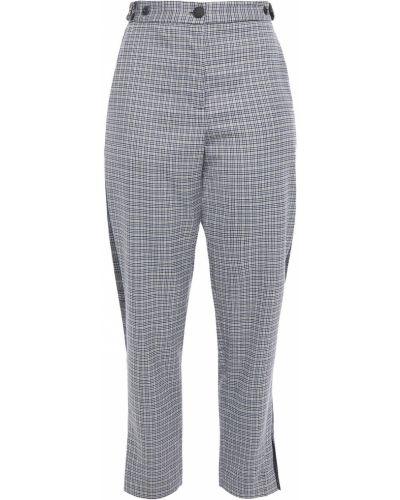 Szare spodnie wełniane zapinane na guziki Rag & Bone