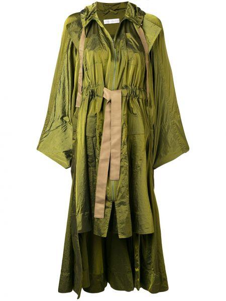 Длинное пальто с капюшоном айвори Palmer / Harding