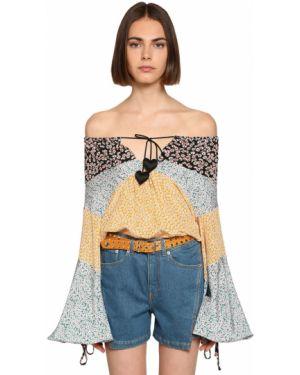 Рубашка в полоску под запонки Lanvin