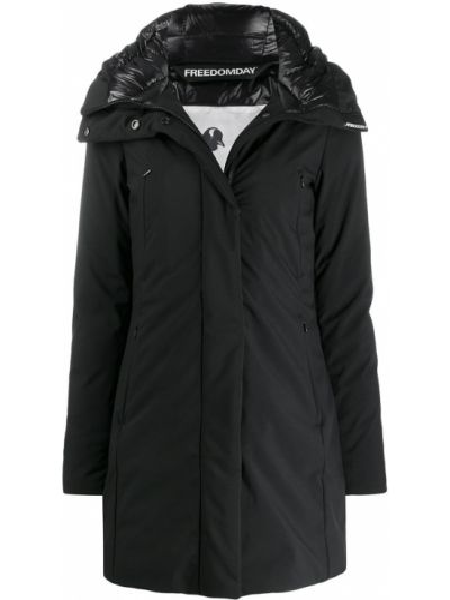 Прямая черная куртка с капюшоном Freedomday