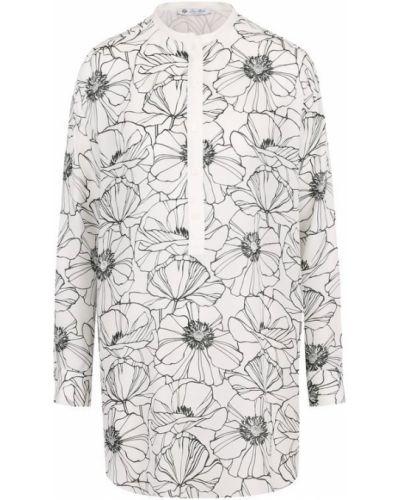 Блузка с длинным рукавом с цветочным принтом на пуговицах Loro Piana
