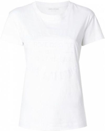 Белая футболка с логотипом Zadig & Voltaire