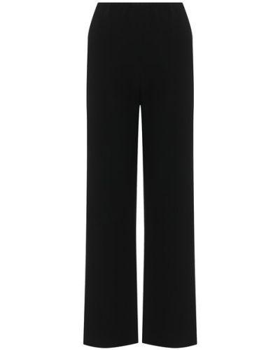 Прямые черные классические брюки с поясом из вискозы The Row