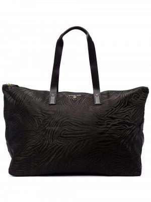 Черная дорожная сумка металлическая на молнии Michael Michael Kors