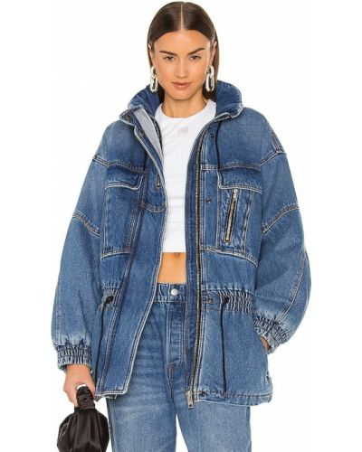 Джинсовая куртка на молнии - синяя Denim X Alexander Wang