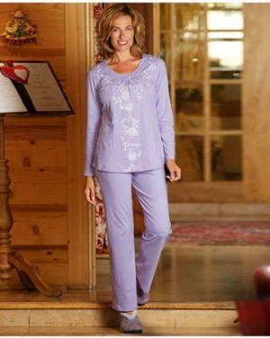 Фиолетовый костюмный домашний костюм свободного кроя с поясом Atlas For Men