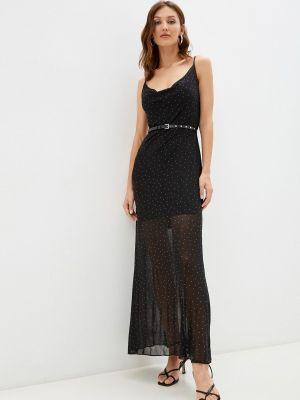 Черное зимнее платье Guess Jeans