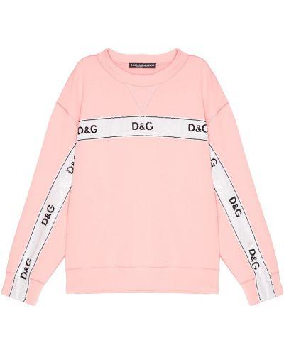 Розовый свитшот с пайетками Dolce&gabbana