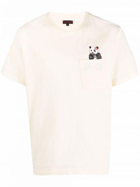 Biały t-shirt bawełniany krótki rękaw Clot