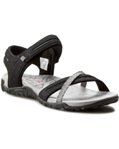 Sandały skórzane - czarne Merrell