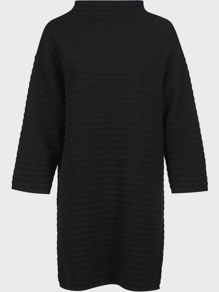 Шерстяное черное платье Kontatto