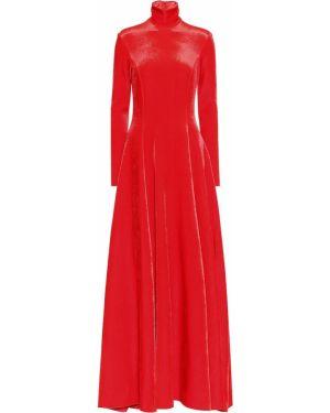 Sukienka aksamit jasny kolor Balenciaga