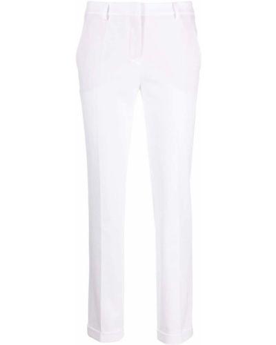 Деловые хлопковые белые укороченные брюки Incotex