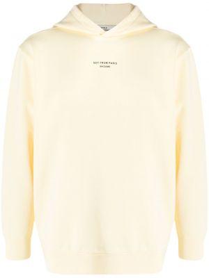 Żółta bluza długa bawełniana z długimi rękawami Drole De Monsieur