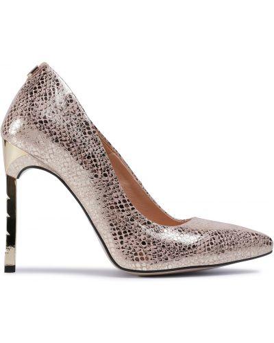 Туфли на каблуке - золотые R.polański