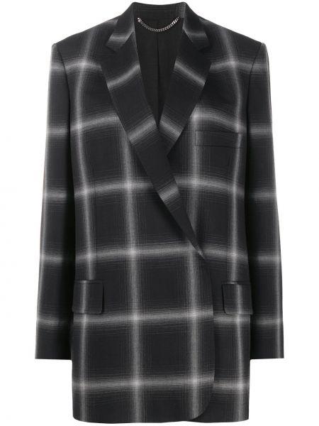 Черная куртка на пуговицах двубортная с карманами Stella Mccartney