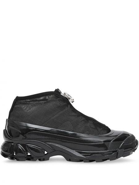 Кроссовки на молнии черные Burberry