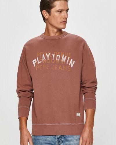 Różowa bluza z kapturem bawełniana Pepe Jeans