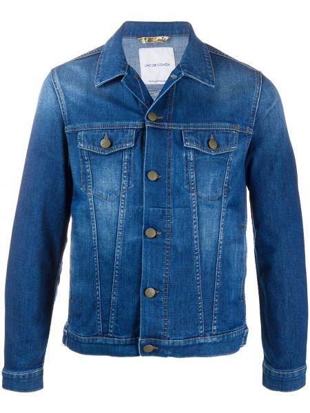 Джинсовая куртка длинная укороченная Jacob Cohen
