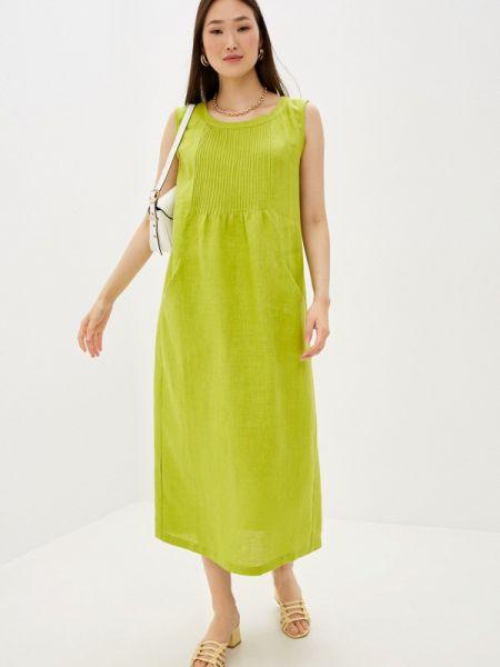 Платье прямое зеленый Electrastyle