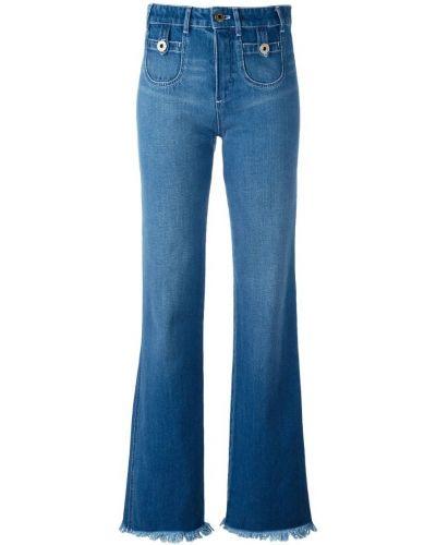 Расклешенные джинсы на пуговицах с карманами Chloé